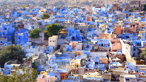 Vista della città Jodhpur-blu. L'India. Fotografia Stock