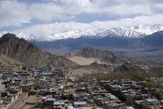 Vista della città, Leh, Ladakh, India Fotografia Stock Libera da Diritti