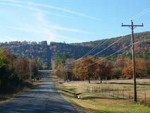 Vista della collina di Cavanal, Poteau, APPROVAZIONE Immagini Stock Libere da Diritti