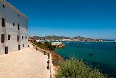 Vista della collina di Ibiza Immagine Stock