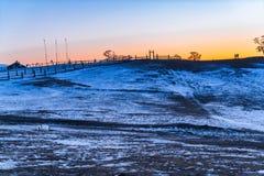 Vista della collina sull'isola di Olkhon nel lago Baikal Fotografia Stock