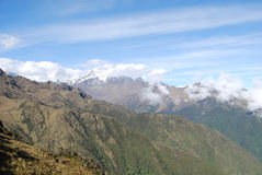 Vista della Cordigliera Urubamba. Cuzco fotografie stock