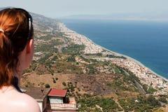 Vista della costa Fotografie Stock