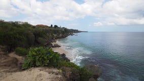 Vista della costa con la spiaggia fotografia stock