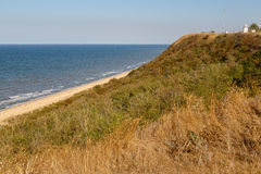 Vista della costa del mare di Azov Immagini Stock