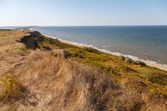 Vista della costa del mare di Azov Fotografia Stock