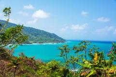 Vista della costa del Panama Fotografie Stock