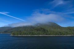 Vista della costa dell'Alaska Fotografia Stock Libera da Diritti