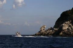 Vista della costa di capri Fotografia Stock Libera da Diritti