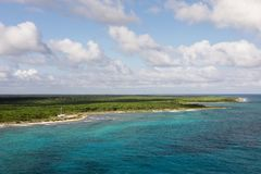 Vista della costa di Costa Maya Immagine Stock