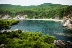 Vista della costa della penisola fotografia stock libera da diritti