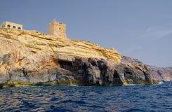 Vista della costa rocciosa Fotografie Stock Libere da Diritti