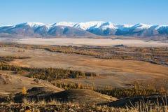 Vista della cresta di Chuya delle montagne di Altai in Siberia Immagine Stock