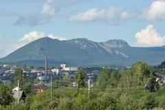Vista della cresta grande Taganay Fotografia Stock Libera da Diritti