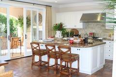 Vista della cucina Fotografia Stock