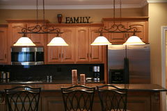 Vista della cucina Fotografie Stock