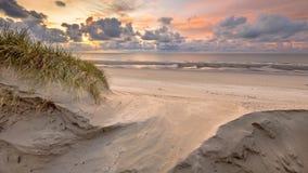 Vista della duna sul Mare del Nord Fotografia Stock Libera da Diritti