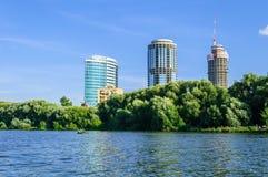 Vista della Ekaterinburg-città del centro di affari Fotografie Stock Libere da Diritti