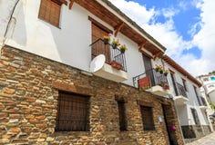 Vista della facciata di due case, La Alpujarra, Granada, Spagna Immagine Stock Libera da Diritti