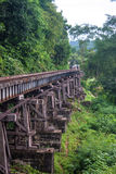 Vista della ferrovia della Birmania Fotografie Stock Libere da Diritti