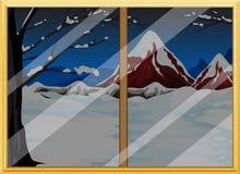Vista della finestra Immagini Stock Libere da Diritti