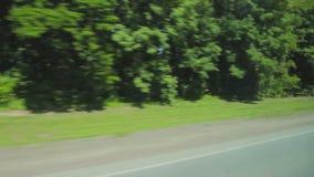 Vista della finestra dall'automobile, bus, treno stock footage