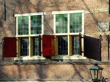 Vista della finestra del caffè Fotografie Stock