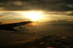 Vista della finestra dell'aeroplano fotografie stock