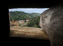 Vista della finestra di Dracula Immagini Stock