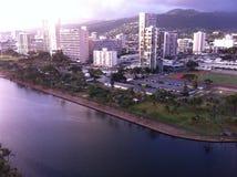 Vista della finestra di Waikiki Fotografie Stock
