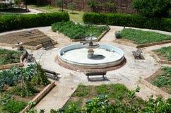 Vista della fontana al castello di Silves Fotografie Stock