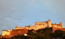 Vista della fortezza di Hohensalzburg a Salisburgo Austria Immagine Stock