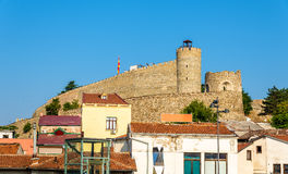 Vista della fortezza di Skopje fotografie stock libere da diritti