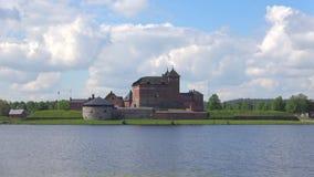 Vista della fortezza-prigione antica Hameenlinna, Finlandia video d archivio