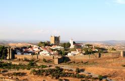 Vista della fortezza storica Braganca, Portogallo immagini stock libere da diritti