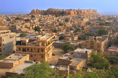 Vista della fortificazione di Jaisalmer e della città, India Fotografie Stock Libere da Diritti