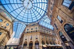 Vista della galleria Vittorio Emanuele II, Milano Immagine Stock Libera da Diritti