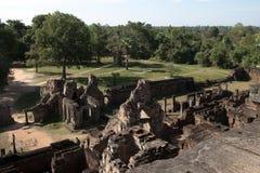 Vista della giungla circostante pre da Rup un tempio indù del X secolo immagini stock