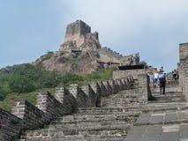 Vista della Grande Muraglia della Cina Immagini Stock Libere da Diritti
