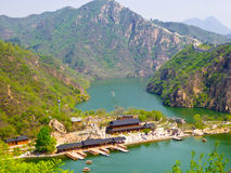 Vista della grande muraglia di Huanghuacheng Immagine Stock Libera da Diritti
