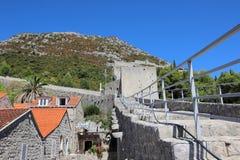 Vista della grande muraglia, Ston fotografia stock