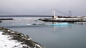 Vista della laguna del ghiaccio di Jokulsarlon Fotografie Stock