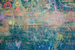 Vista della lavagna variopinta illustrazione di stock