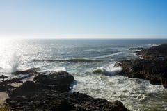Vista della linea della costa dell'Oregon fotografie stock libere da diritti