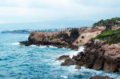 Vista della linea costiera del Cipro Immagini Stock