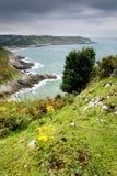 Vista della linea costiera di Galles del sud Fotografie Stock