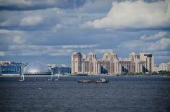 Vista della linea costiera di San Pietroburgo, Russia Immagine Stock Libera da Diritti