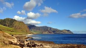 Vista della linea costiera hawaiana Immagine Stock Libera da Diritti