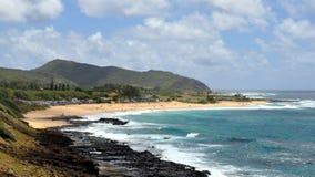 Vista della linea costiera hawaiana Fotografia Stock