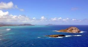Vista della linea costiera hawaiana Fotografie Stock Libere da Diritti